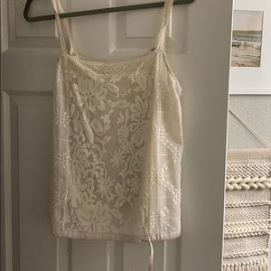 Off white lace tank top